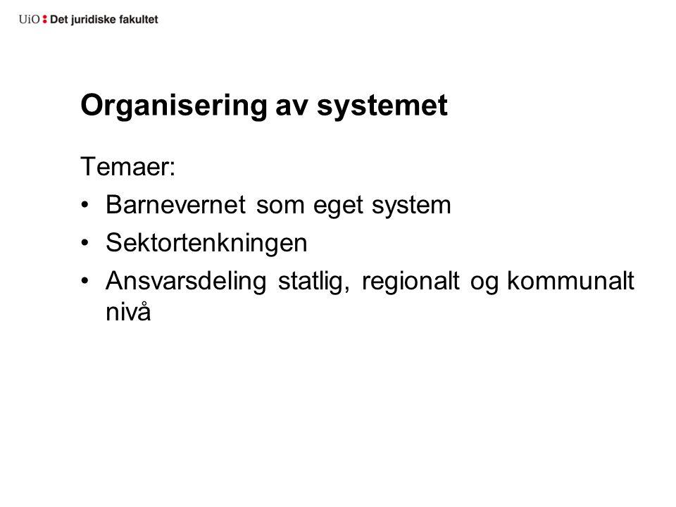 Organisering av systemet