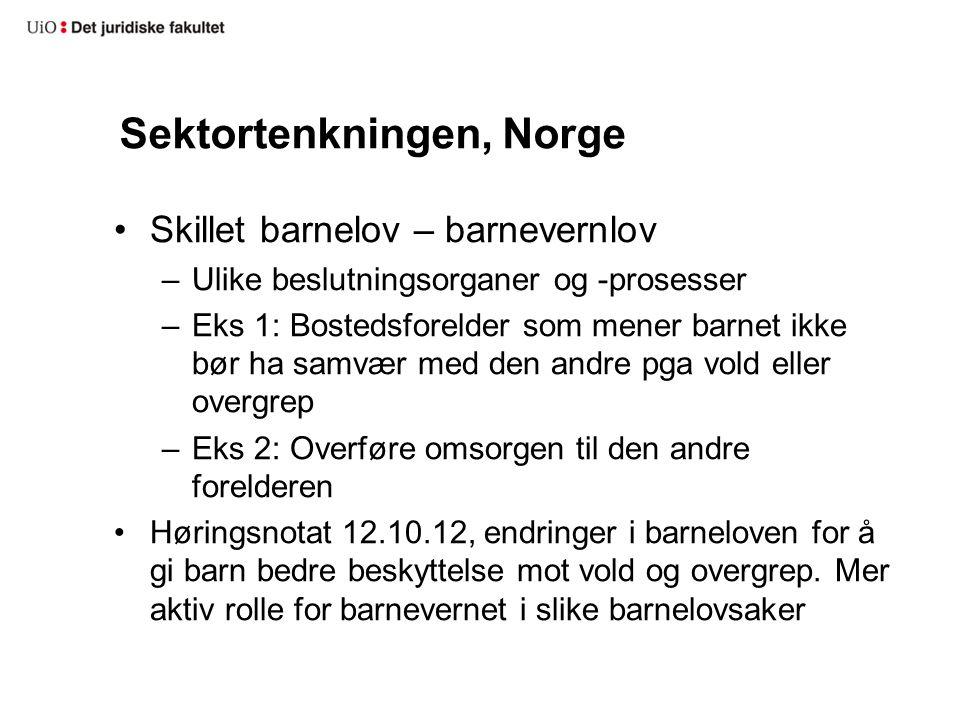 Sektortenkningen, Norge