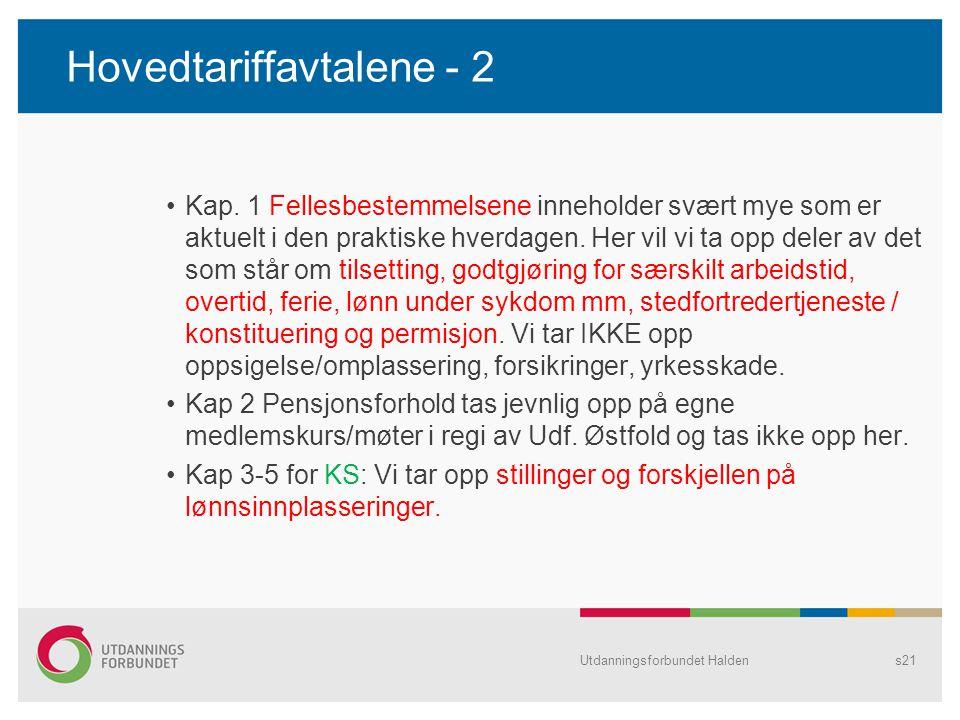 Hovedtariffavtalene - 2