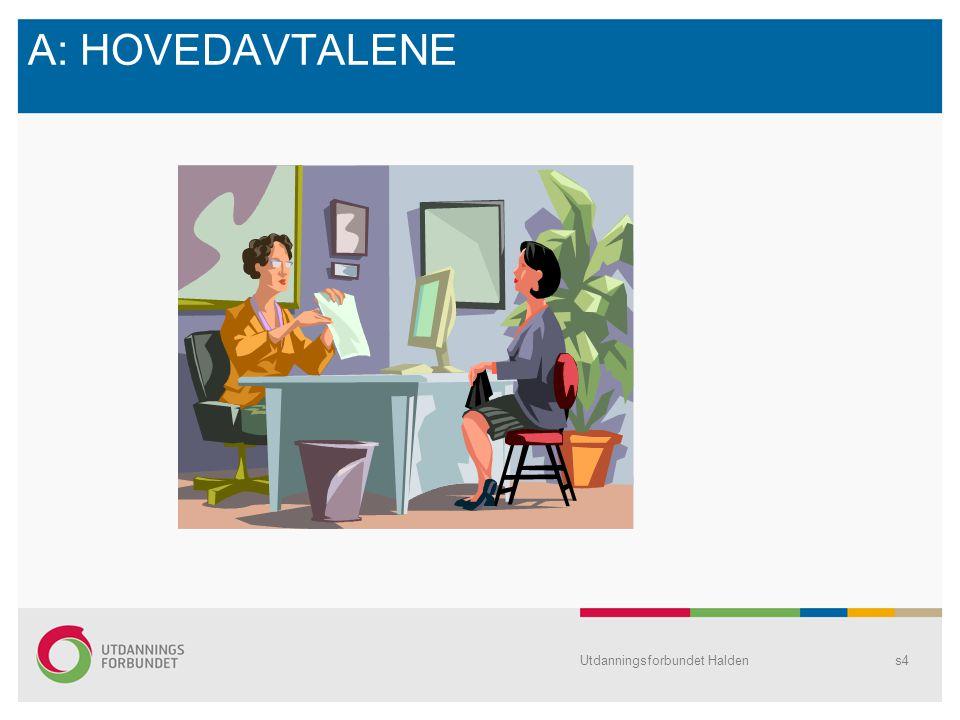 A: HOVEDAVTALENE Utdanningsforbundet Halden