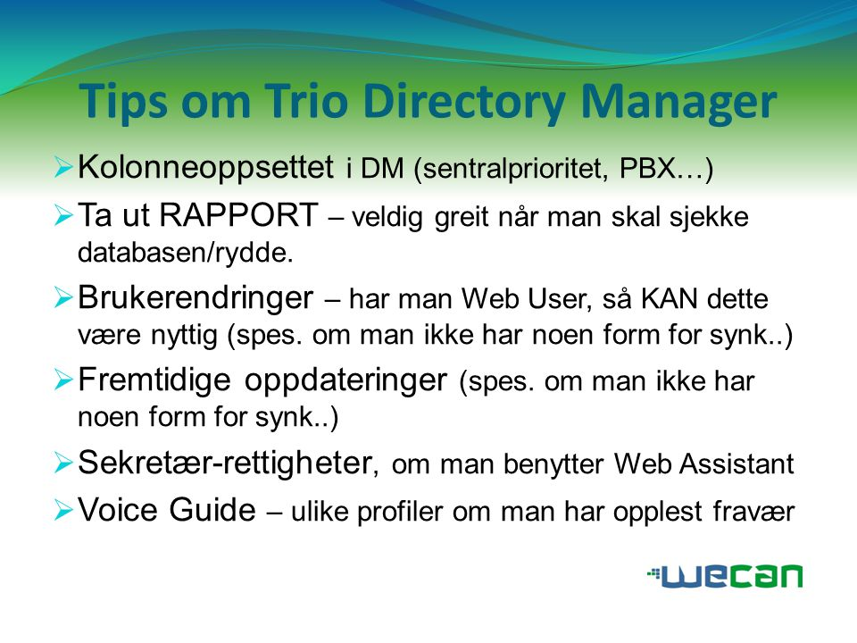Tips om Trio Directory Manager