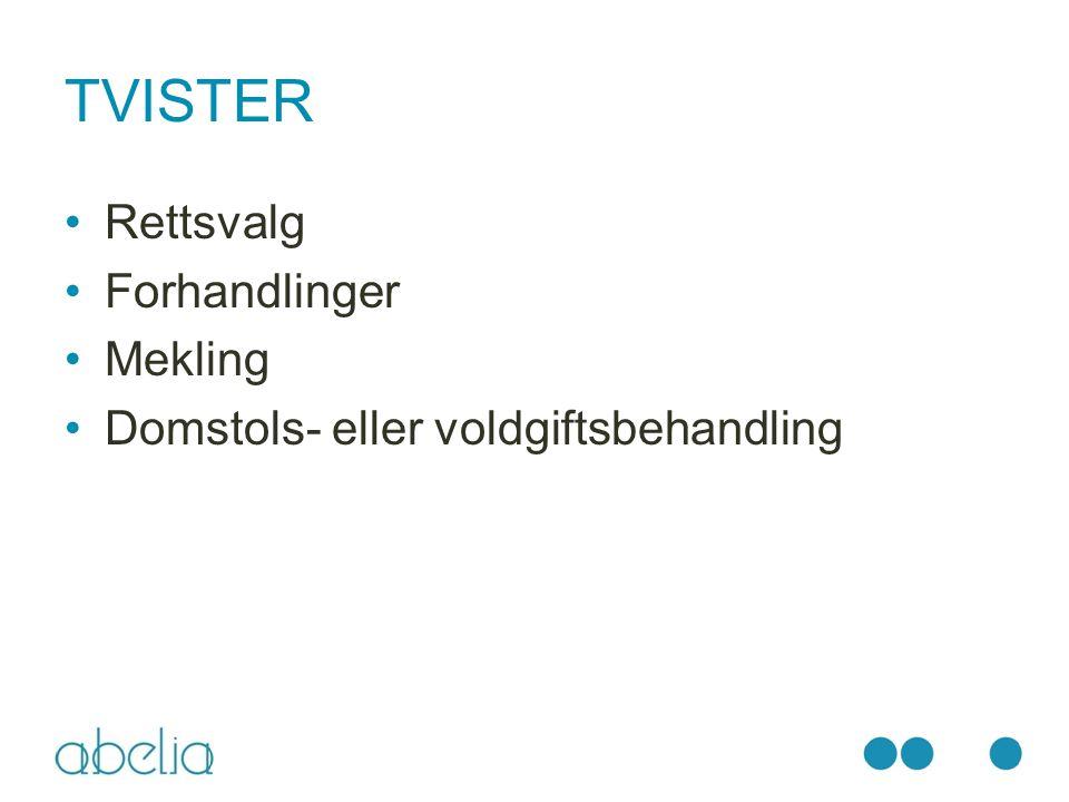 TVISTER Rettsvalg Forhandlinger Mekling