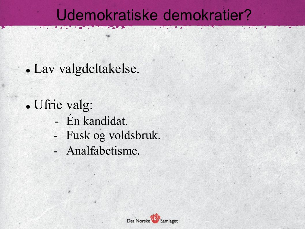 Udemokratiske demokratier