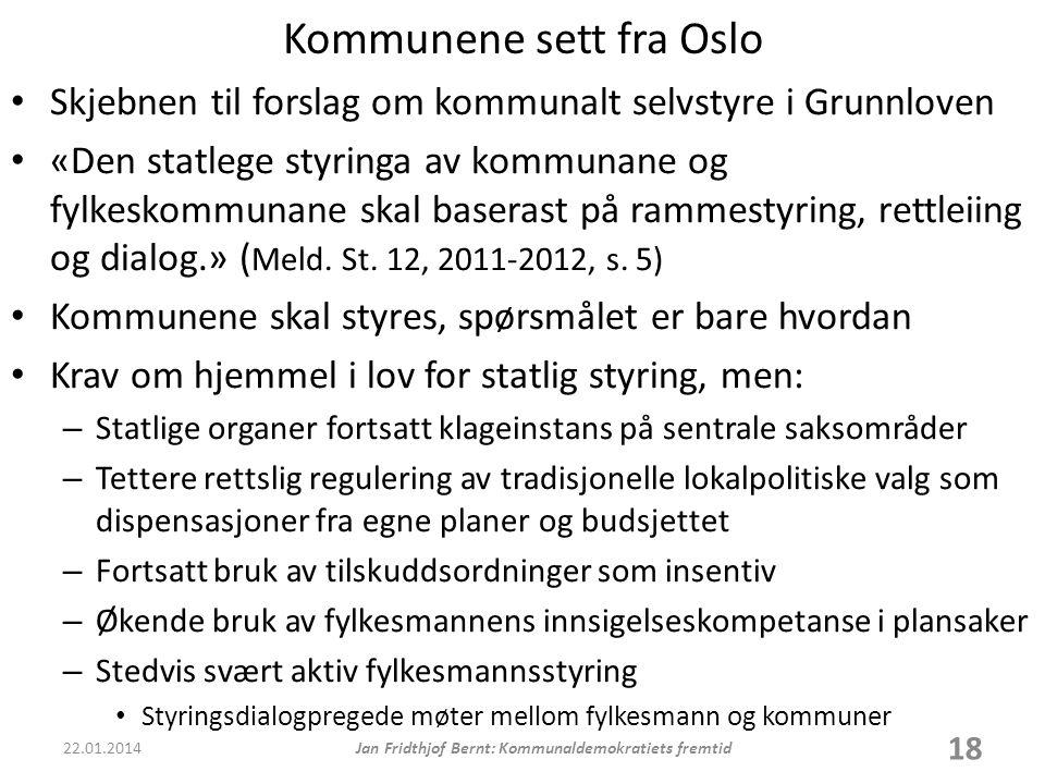 Kommunene sett fra Oslo