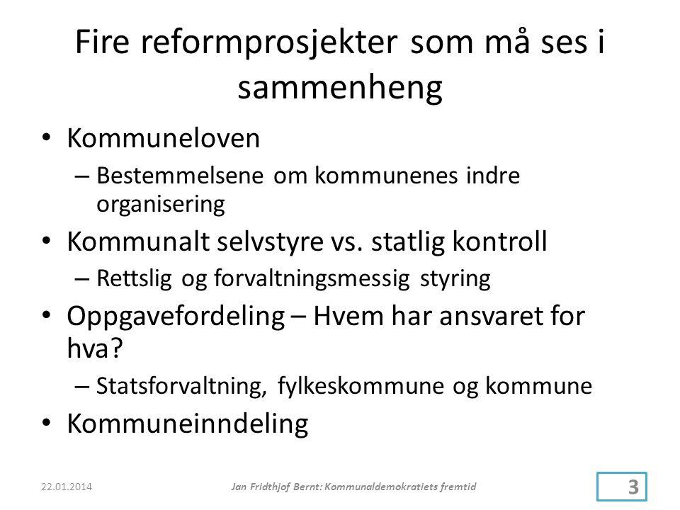 Fire reformprosjekter som må ses i sammenheng