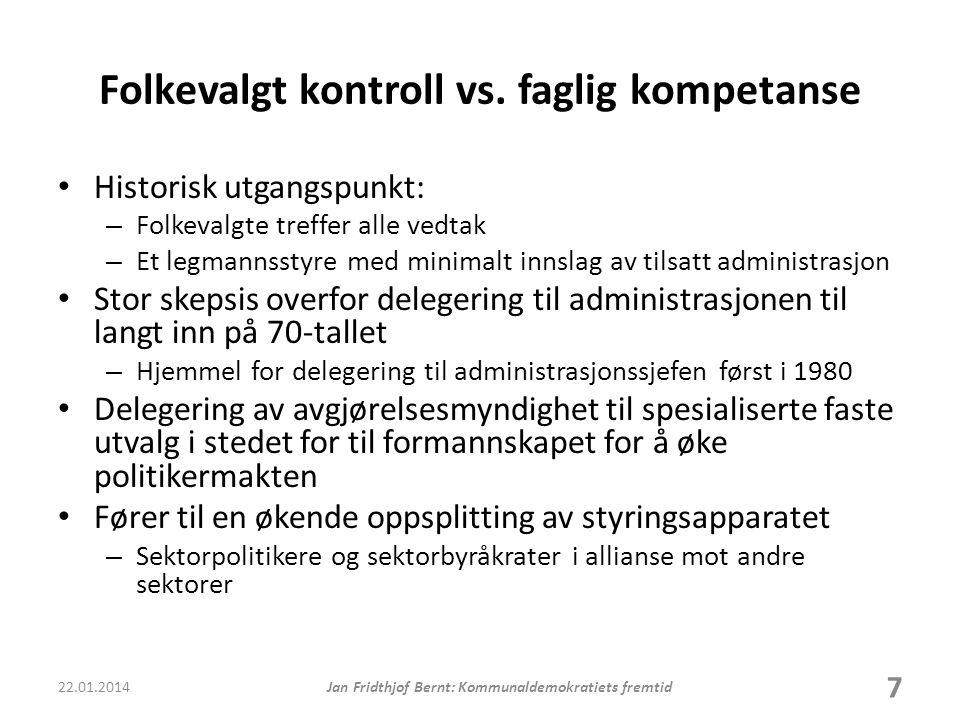 Folkevalgt kontroll vs. faglig kompetanse