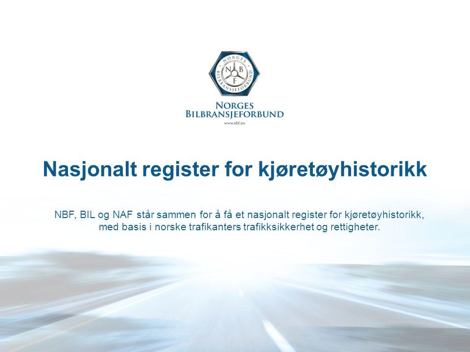 Nasjonalt register for kjøretøyhistorikk