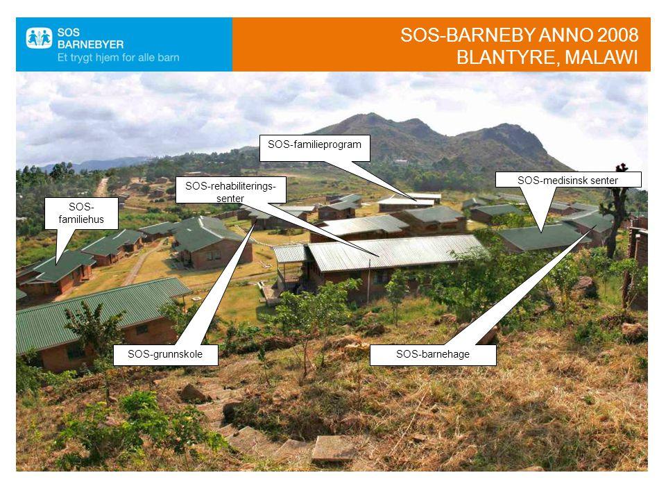 SOS-barneby anno 2008 Blantyre, Malawi