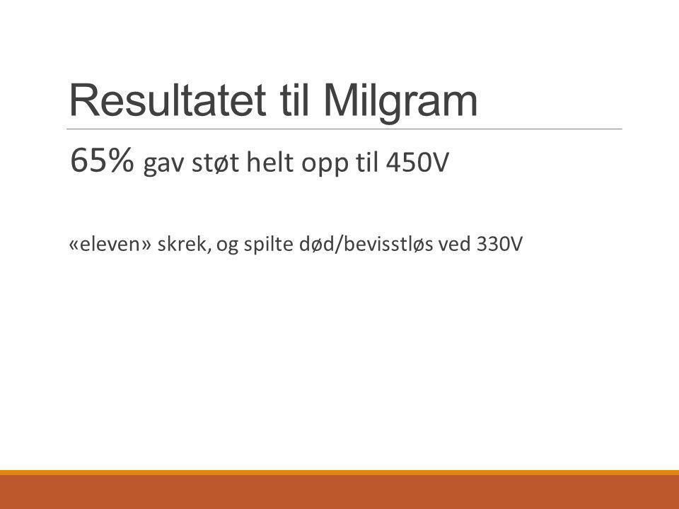 Resultatet til Milgram