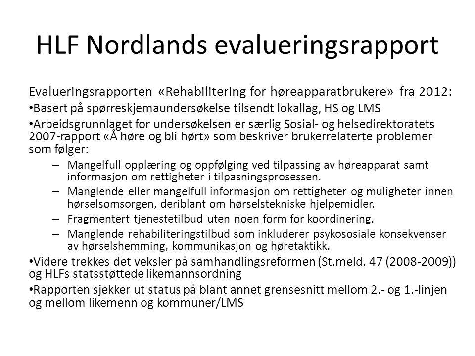 HLF Nordlands evalueringsrapport