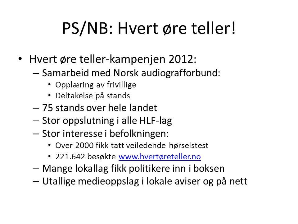 PS/NB: Hvert øre teller!