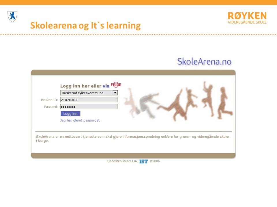 Skolearena og It`s learning