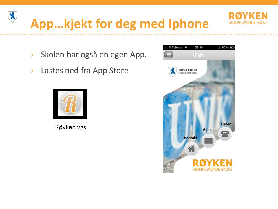 App…kjekt for deg med Iphone
