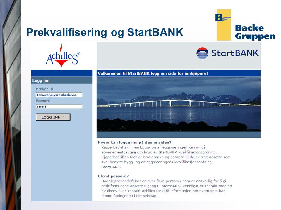 Prekvalifisering og StartBANK