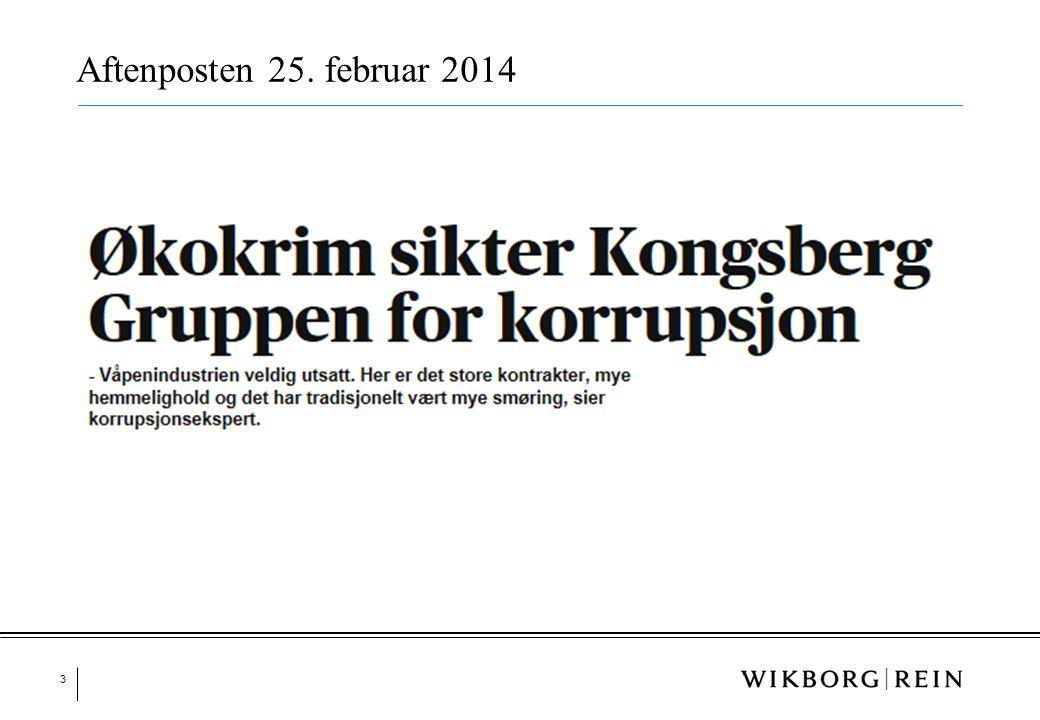 Aftenposten 25. februar 2014