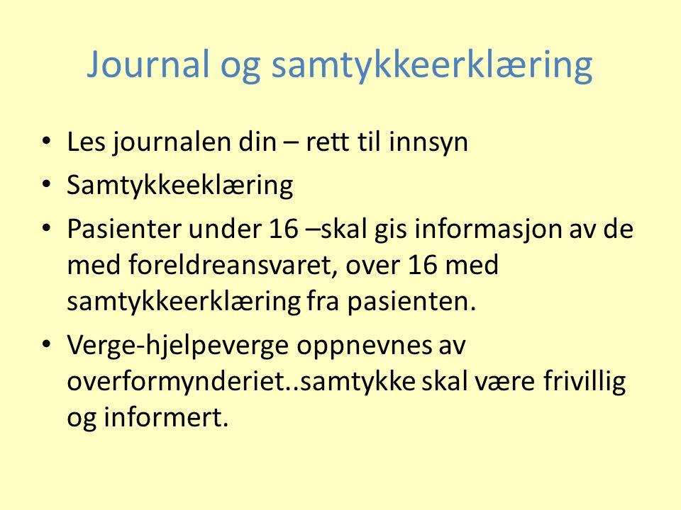 Journal og samtykkeerklæring