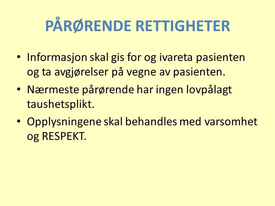 PÅRØRENDE RETTIGHETER