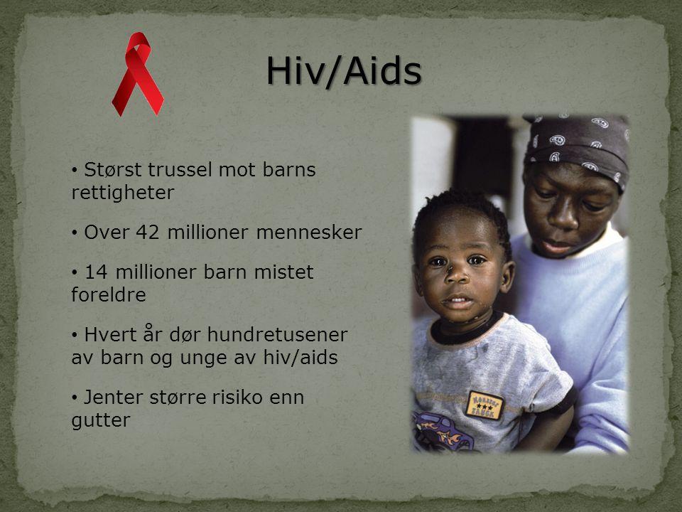 Hiv/Aids Størst trussel mot barns rettigheter