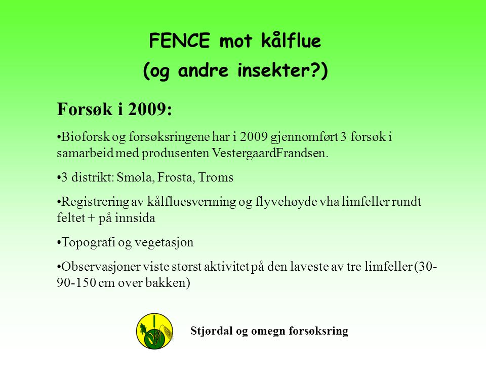 FENCE mot kålflue (og andre insekter )