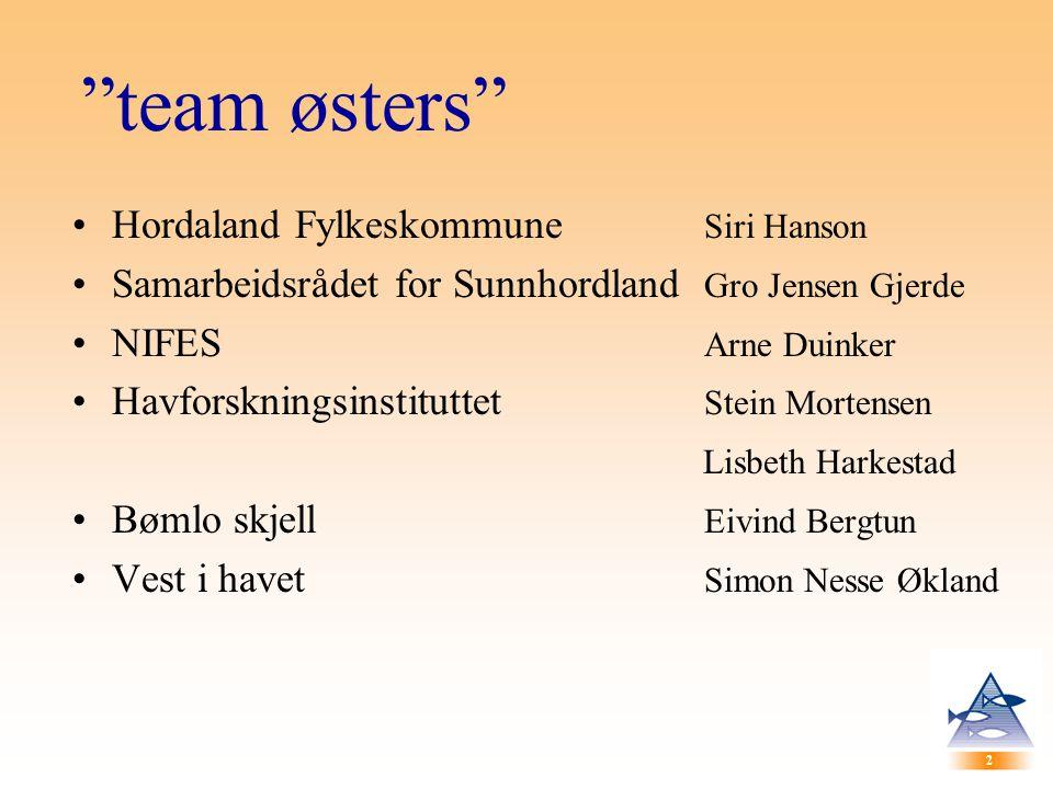 team østers Hordaland Fylkeskommune Siri Hanson