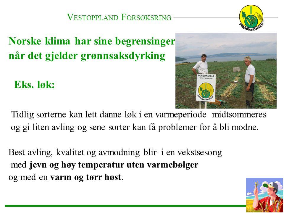Norske klima har sine begrensinger når det gjelder grønnsaksdyrking