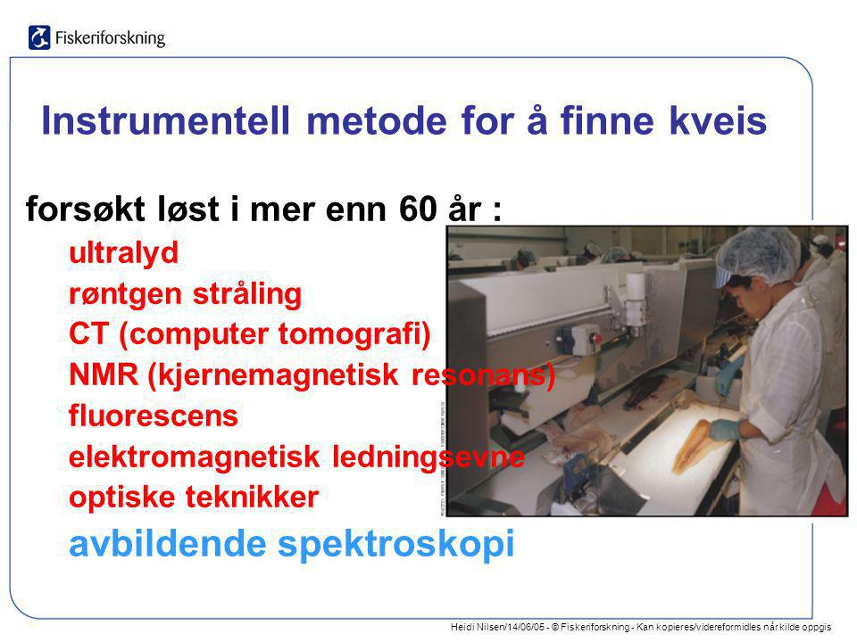 Instrumentell metode for å finne kveis