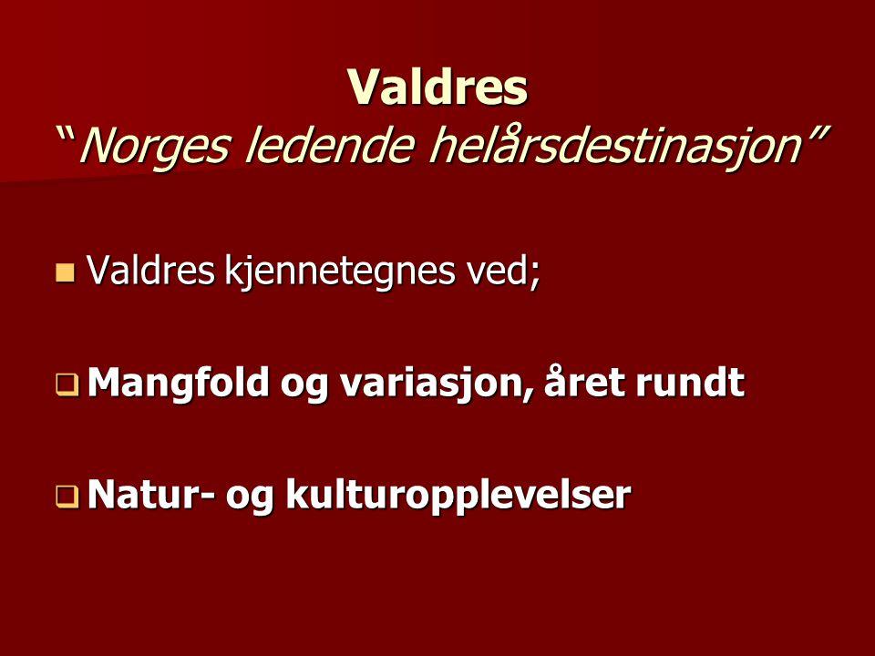 Valdres Norges ledende helårsdestinasjon