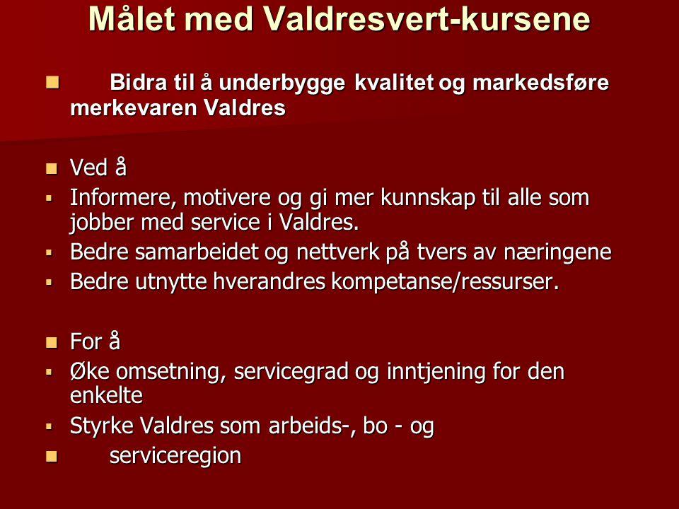 Målet med Valdresvert-kursene
