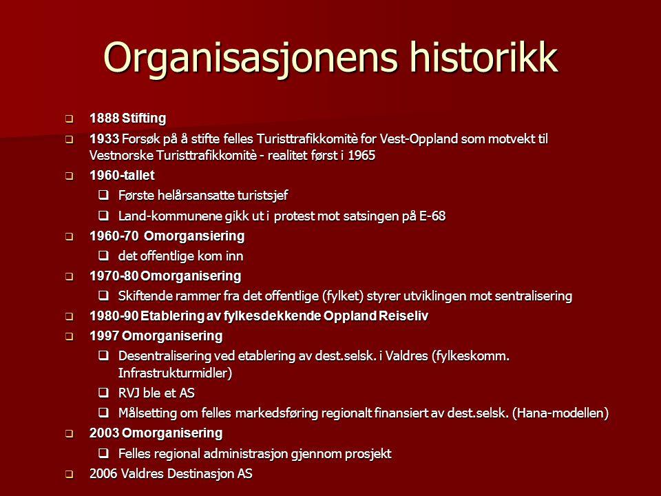 Organisasjonens historikk