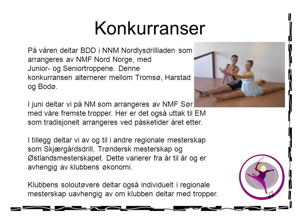 Konkurranser På våren deltar BDD i NNM Nordlysdrilliaden som arrangeres av NMF Nord Norge, med. Junior- og Seniortroppene. Denne.