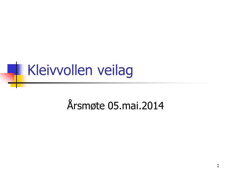 Kleivvollen veilag Årsmøte 05.mai.2014