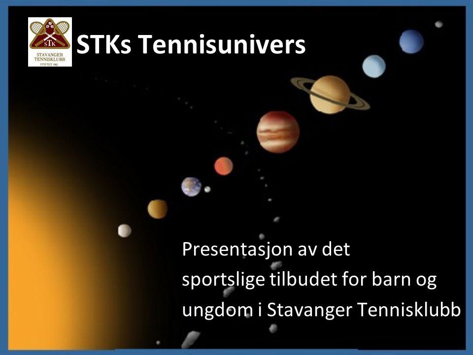 STKs Tennisunivers Presentasjon av det sportslige tilbudet for barn og