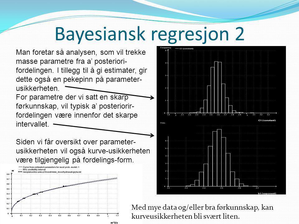 Bayesiansk regresjon 2