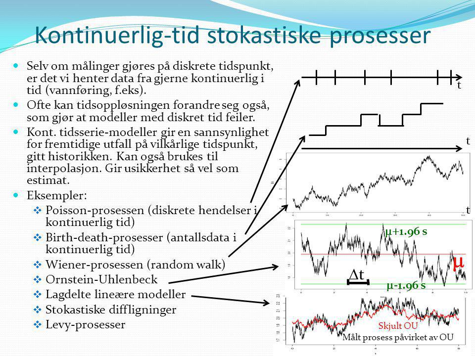 Kontinuerlig-tid stokastiske prosesser