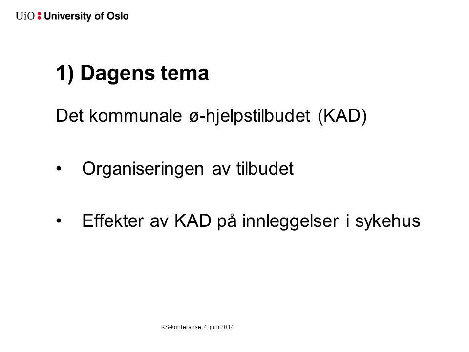 Reduserer kommunale akutte døgnenheter (KAD) antall innleggelsen av eldre pasienter ved somatiske sykehus