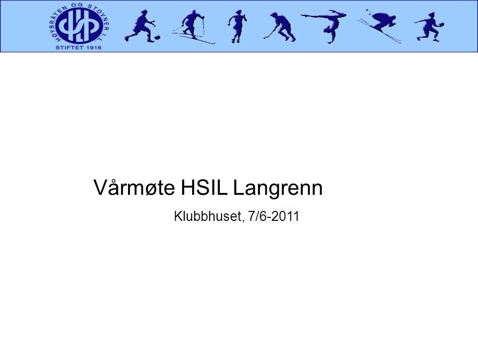 Vårmøte HSIL Langrenn Klubbhuset, 7/6-2011