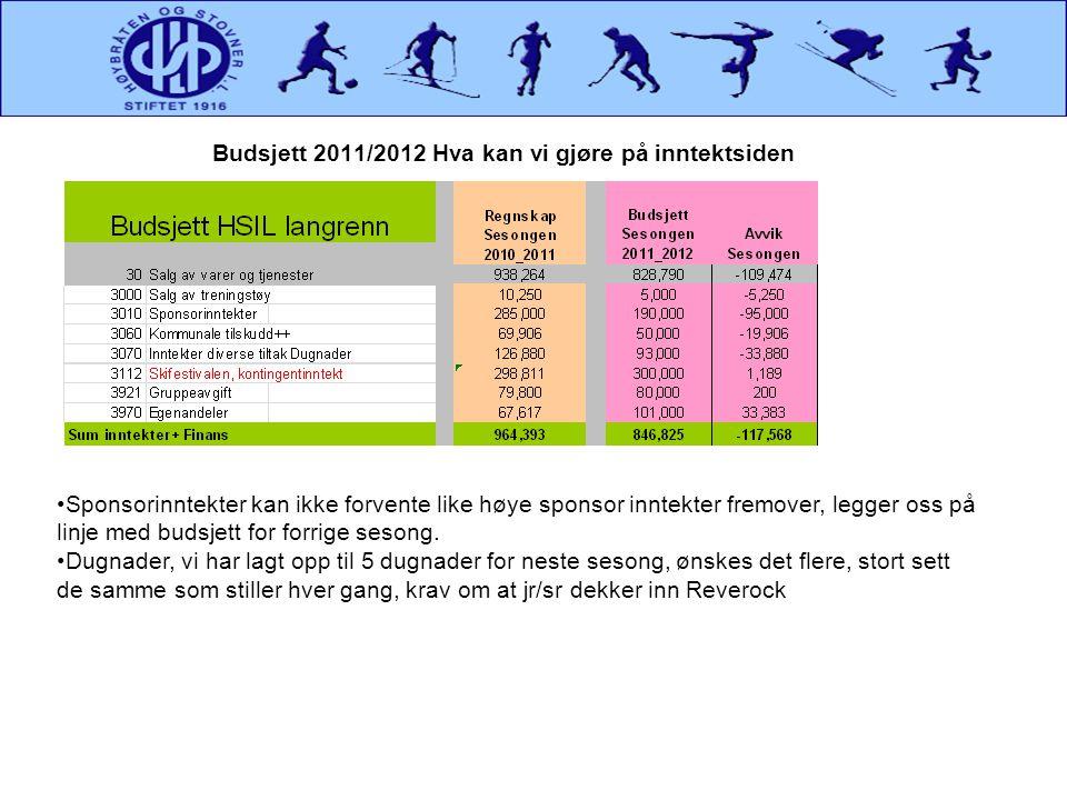 Budsjett 2011/2012 Hva kan vi gjøre på inntektsiden