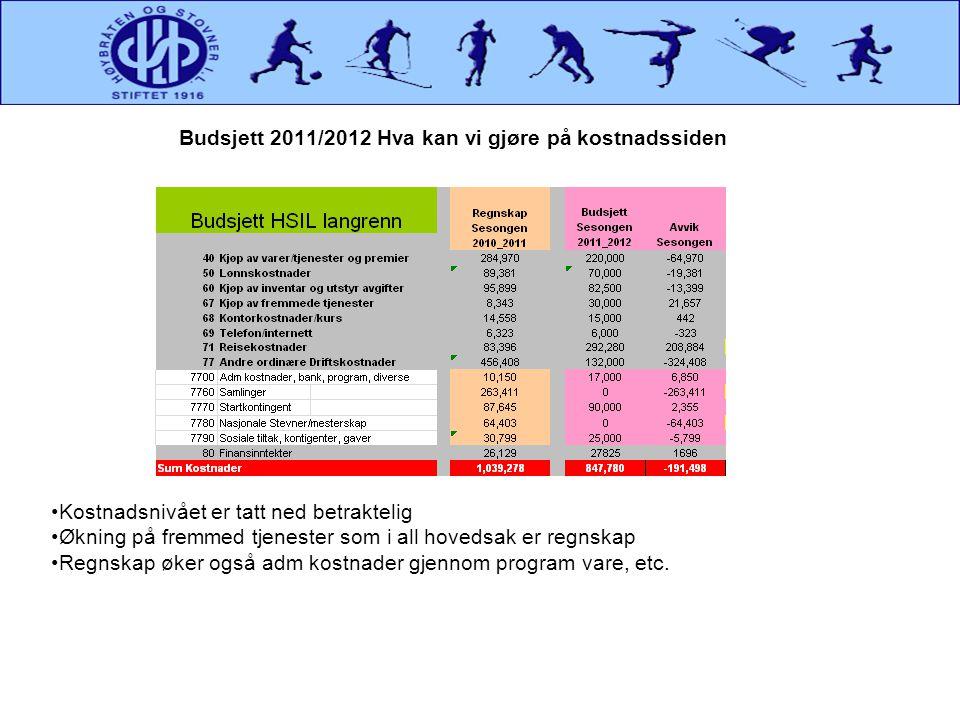Budsjett 2011/2012 Hva kan vi gjøre på kostnadssiden