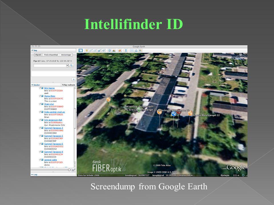 Intellifinder ID Screendump from Google Earth