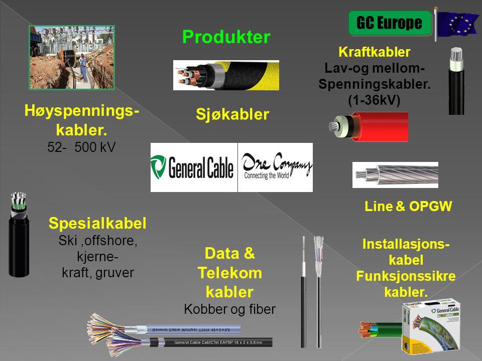 Produkter GC Europe Høyspennings- kabler. Sjøkabler Spesialkabel