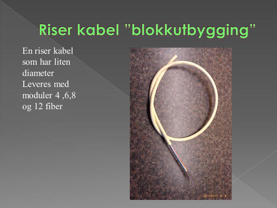Riser kabel blokkutbygging