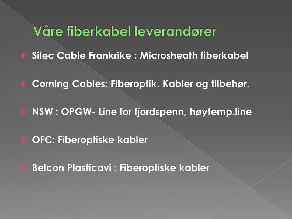 Våre fiberkabel leverandører