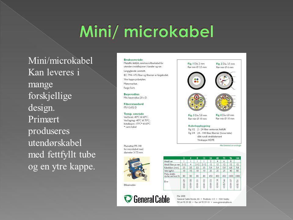 Mini/ microkabel Mini/microkabelKan leveres i mange forskjellige design.