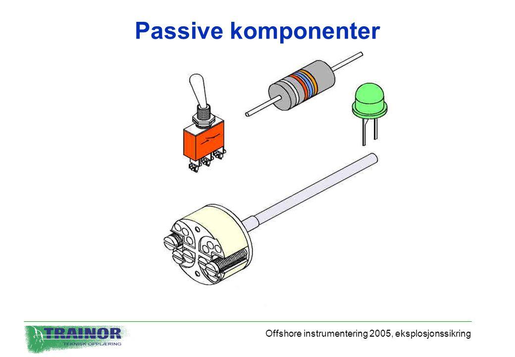 Passive komponenter Offshore instrumentering 2005, eksplosjonssikring