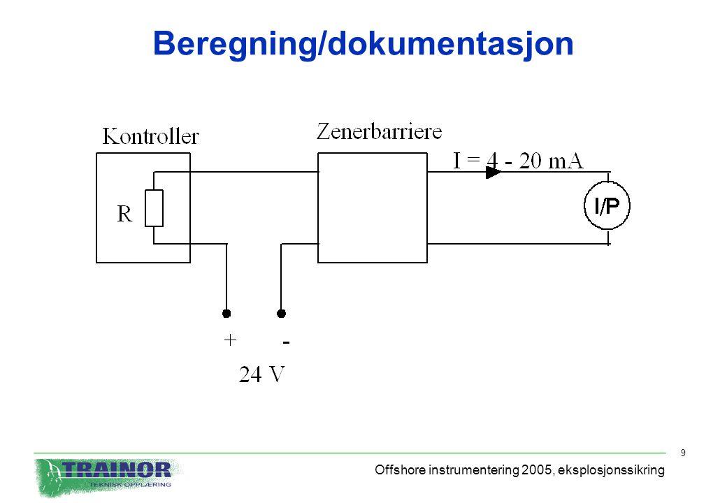 Beregning/dokumentasjon