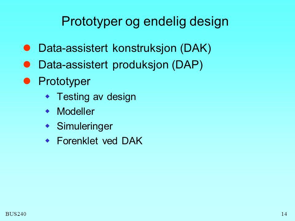 Prototyper og endelig design