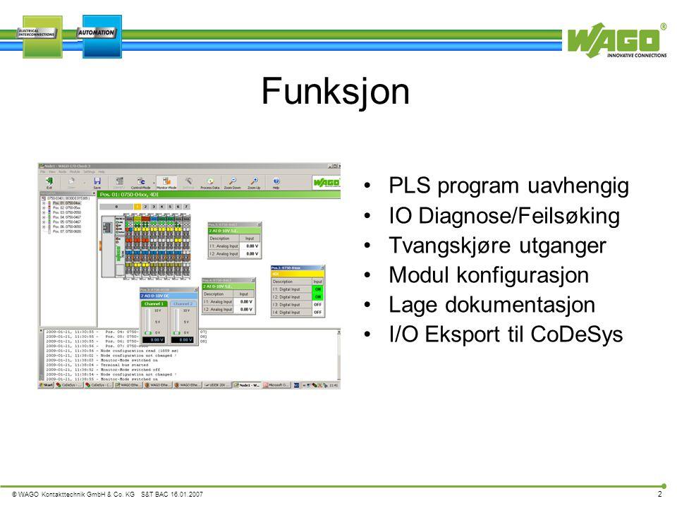 Funksjon PLS program uavhengig IO Diagnose/Feilsøking