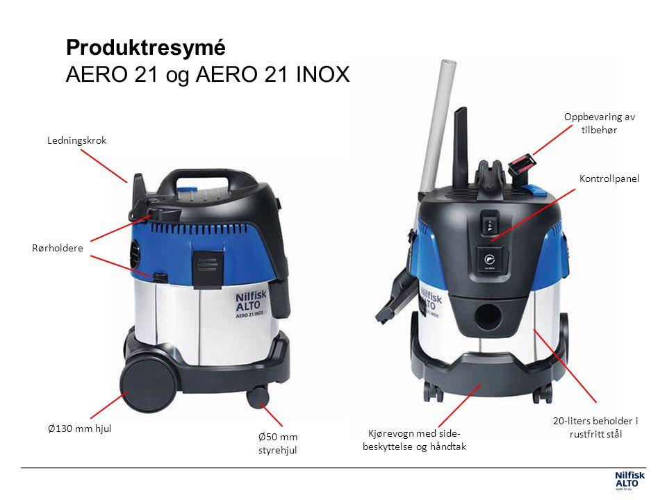 Produktresymé AERO 21 og AERO 21 INOX