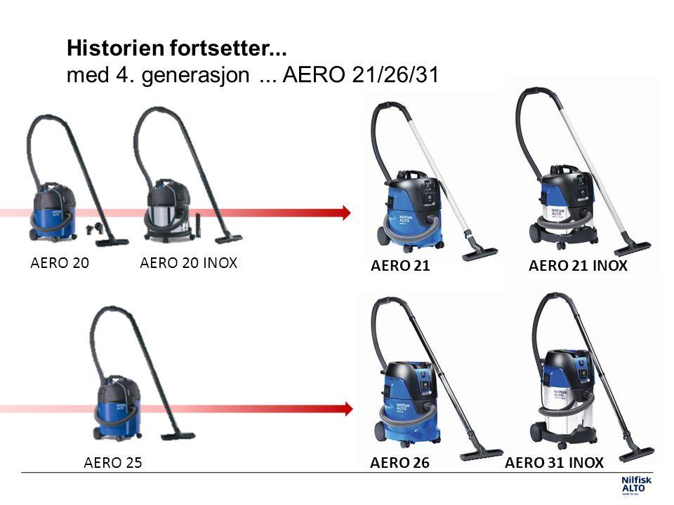 Historien fortsetter... med 4. generasjon ... AERO 21/26/31