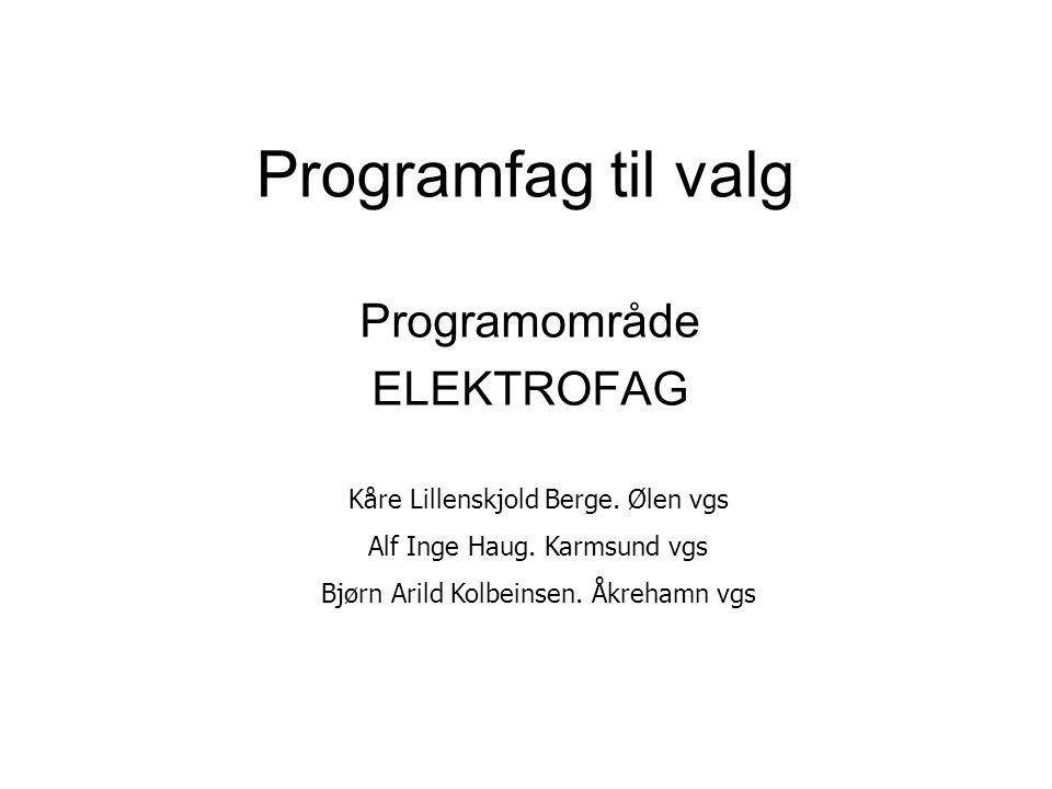 Programområde ELEKTROFAG